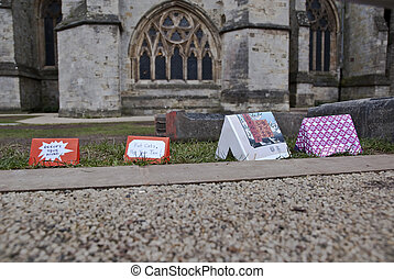 Little cardboard Occupy Exeter campsite set up on the former...
