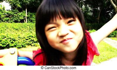 Asiat, flicka