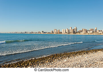 Alicante - Muchavista beach and the long stretching bay of...