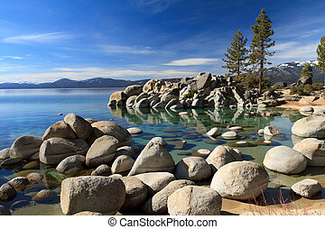 Lake Tahoe shorline
