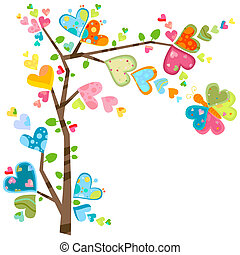 flower tree - love and flower tree in spring