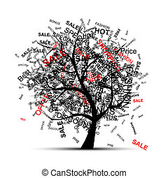 Shopping tree concept for your design