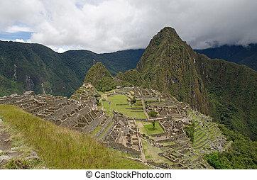 Machu Picchu - The ruins of the Inca Site Machu Picchu, a...
