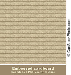Embossed cardboard. Seamless vector background.