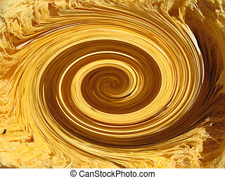 golden whirlpool - abstract background with golden whirlpool...