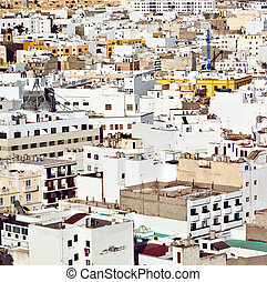white houses in Arrecife, lanzarote