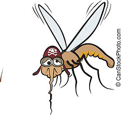 miserable mosquito - miserable and hungry mosquito injured -...