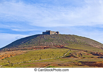 Santa Barbara of Guanapay Castle at Teguise, Lanzarote. Canary Islands, Spain.