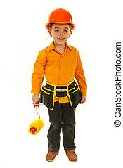 Happy constructor boy