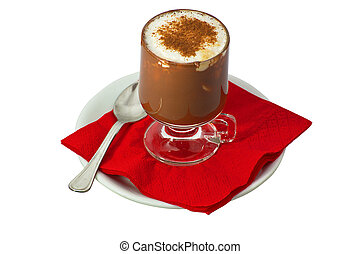 coffe with milk and chocolate