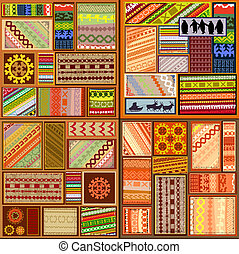 set of ethnic patterns of northern peoples