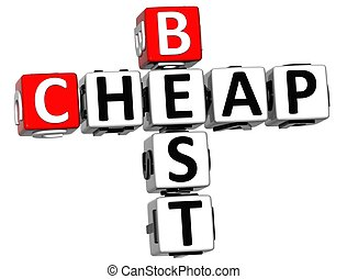 3D Cheap Best Crossword text - 3D Cheap Best Crossword on...