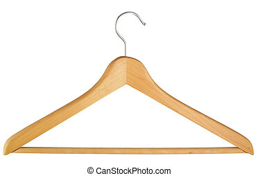 Coat hanger isolated over white b