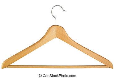 Coat hanger isolated over white background Coat hanger...