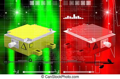 Medical laser - Digital illustration of Medical laser chair...