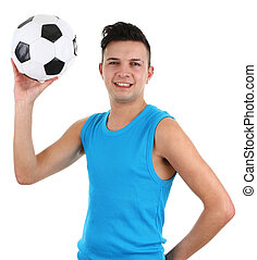 Guy with a football