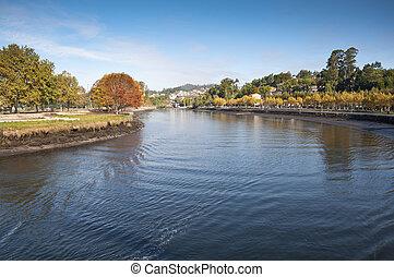 Ria of Pontevedra, Galicia, Spain - General view of Ria de...