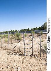 One-way deer gate - View of one-way deer gate Picture taken...