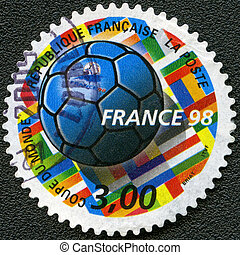 FRANCE - CIRCA 1998: devoted World Cup Soccer Championships...