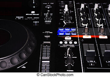 DJ Turntable and Sound Mixer Set