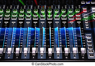 Sound Mixer with Zoom Explosion - Main Mixer Board of Sound...