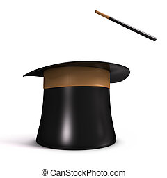 Magic Hat - Magic hat in white background. Your text or...