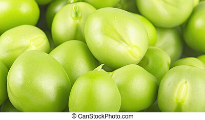 Fresh peas texture close up
