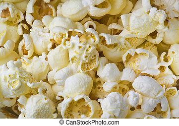 Pop corn texture close up