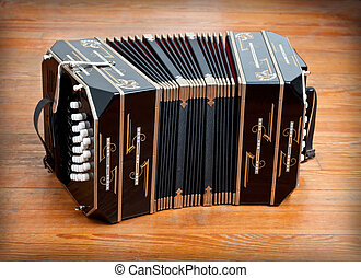 Bandoneon. - Traditional tango musical instrument, called...