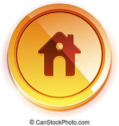 Glossy orange home button