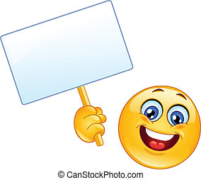 Emoticon with sign