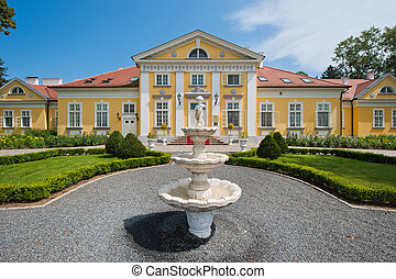 Mansion - Hungarian Mansion in Summer with fountain