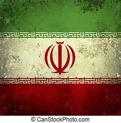 Grunge flag of Iran