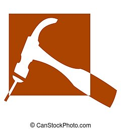 Hammer and Nail - logo - Logo for carpenters and joiners -...
