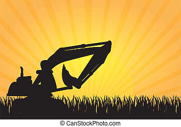 machine construction - silhouette machine construction and...