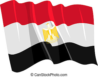 Political waving flag of Egypt