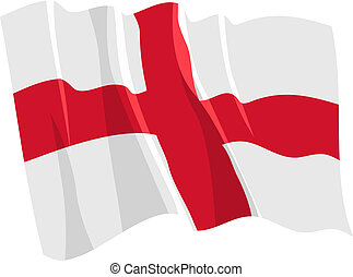 Political waving flag of England