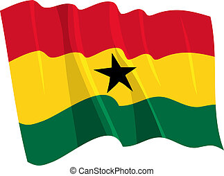 Political waving flag of Ghana