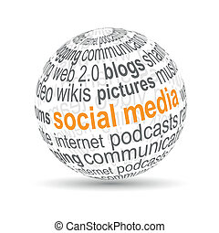 3D ball quot;social mediaquot; - 3D ball social media