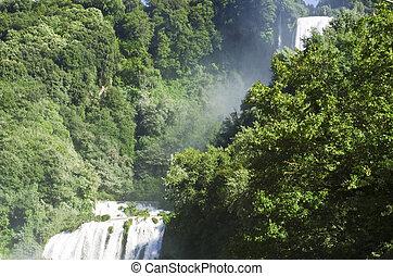 Landscape of cascade of Marmore Terni Umbria Italy