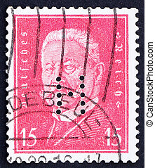Postage stamp Germany 1928 Paul von Hindenburg - GERMANY -...