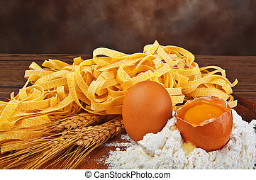 Pasta egg flour typical italian food