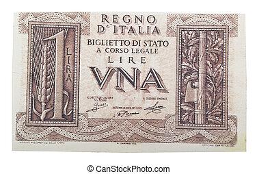 vendimia, Uno, italiano, lire, blanco