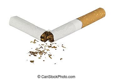 Cigarette cut concept of bad health