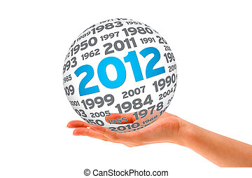 Hand holding a 2012 Sphere