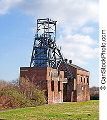 Abandoned Colliery Buildings - Image of an abandoned pit...