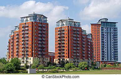 Modern Apartment Blocks - Modern apartment blocks, Leeds, UK
