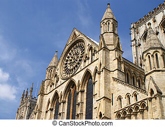 York Minster - Detail of the Minster York, UK, One of the...