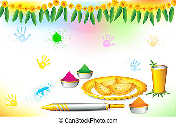 Happy Holi Wallpaper - illustration of happy holi wallpaper...