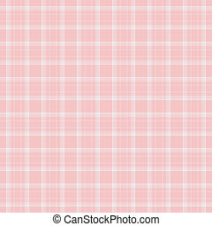Dainty Baby Pink Plaid - Seamless pale pink and white plaid